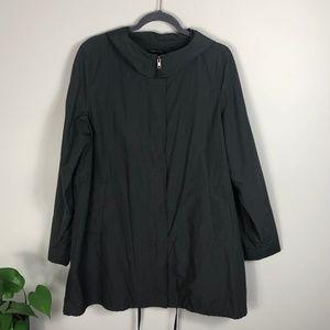 Eileen Fisher Wind Light Rain Jacket Grey Large